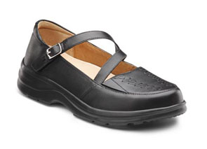 Dr Comfort Betsy Black Shoes