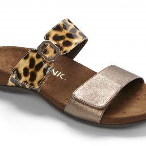 Vionic Camila Bronze/Tan Leopard Sandal Shoe