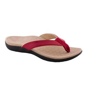 Scholl Orthaheel Sonoma Red Thong Shoe